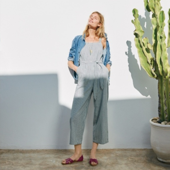 4de1a3a4cbb Madewell Pants - Madewell Muralist in Stripes Jumpsuit Overalls
